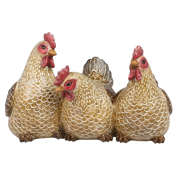 Brown Hen Trio