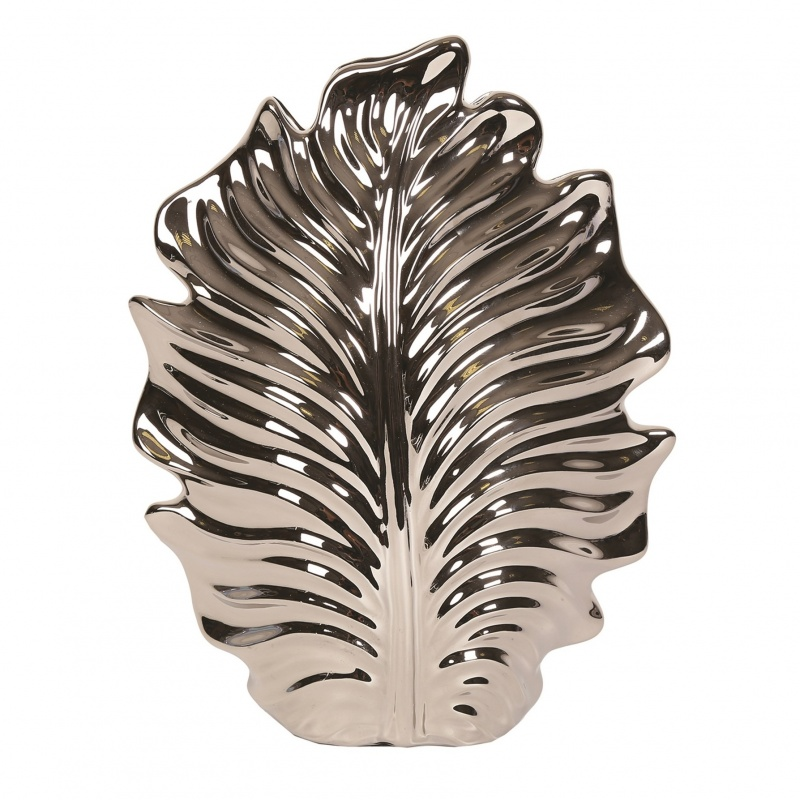 Decorative Silver Leaf Decor  Vase 29.5cm