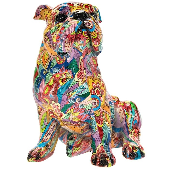 Groovy Art Large Sitting Bulldog