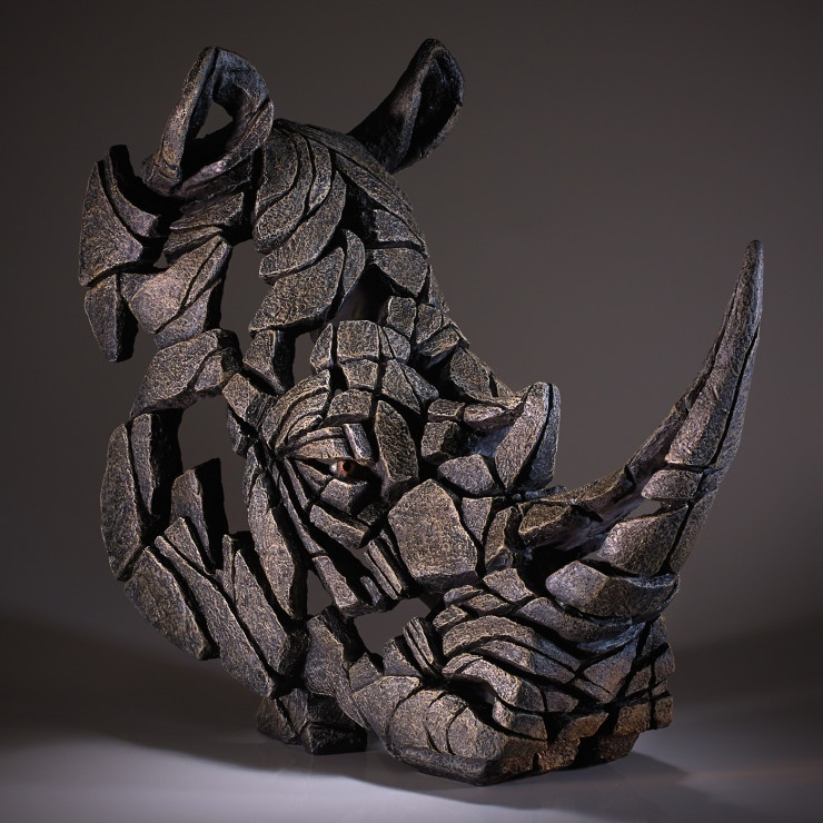 Edge Sculpture Rhino Bust