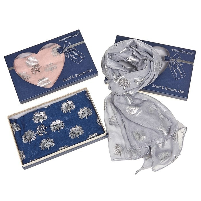 Equilibrium Tree of Life Scarf and Brooch Set