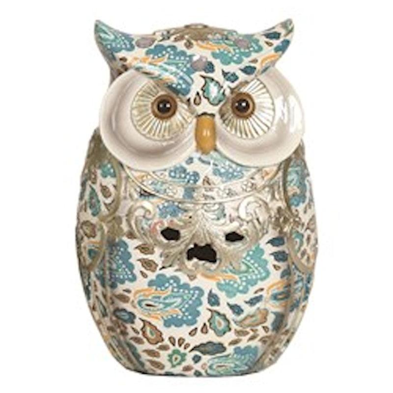 17cm Porcelain Owl