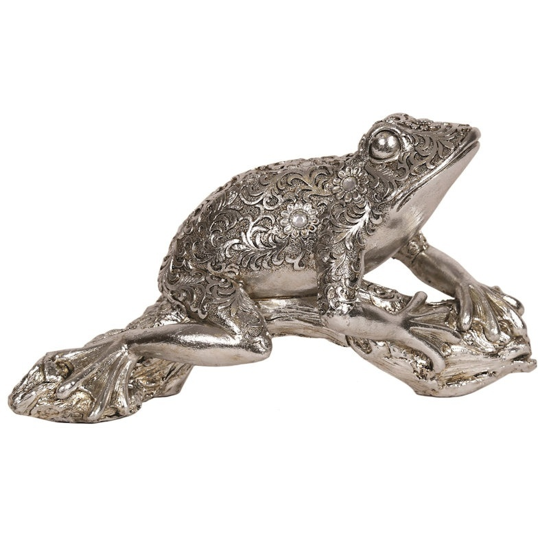 31cm Cast Decorative Frog