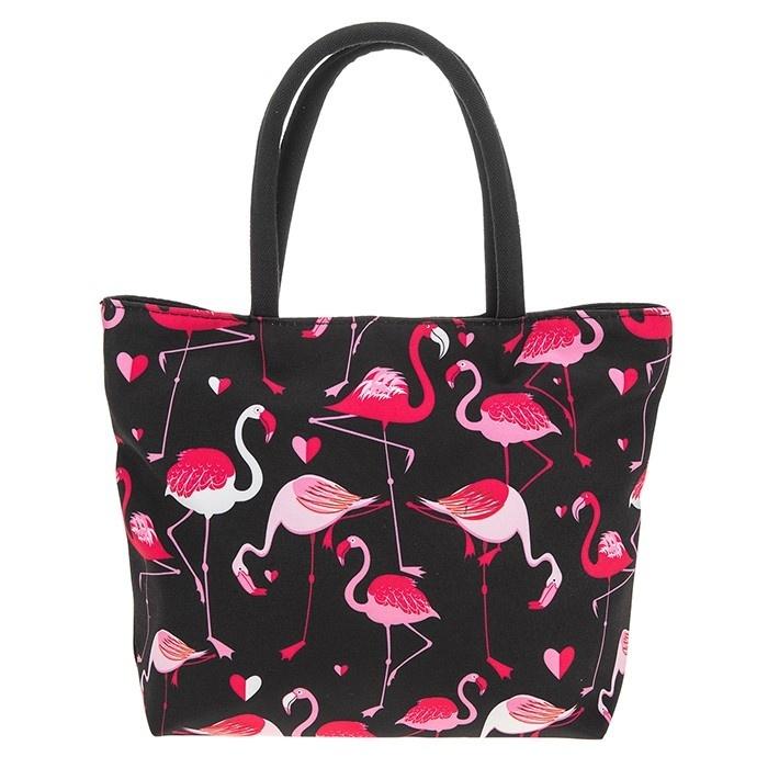 Midnight Flamingo Handbag Large