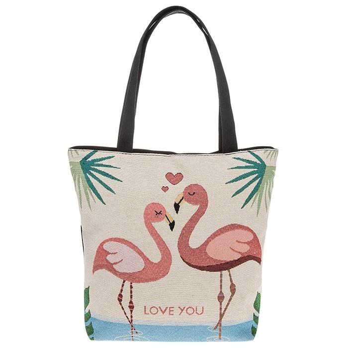 Tapestry Loving Flamingos Tote