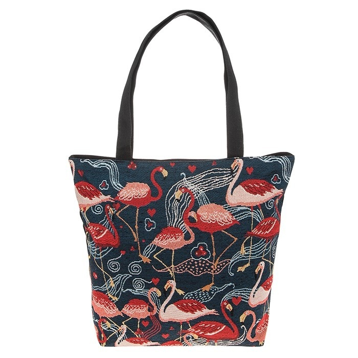 Tapestry Flock of Flamingos Tote