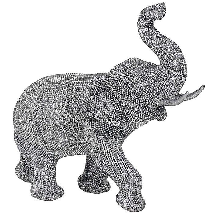 Silver Art Medium Elephant