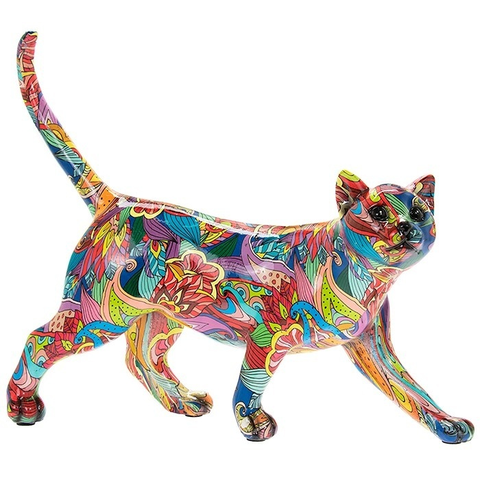 Groovy Art Walking Cat