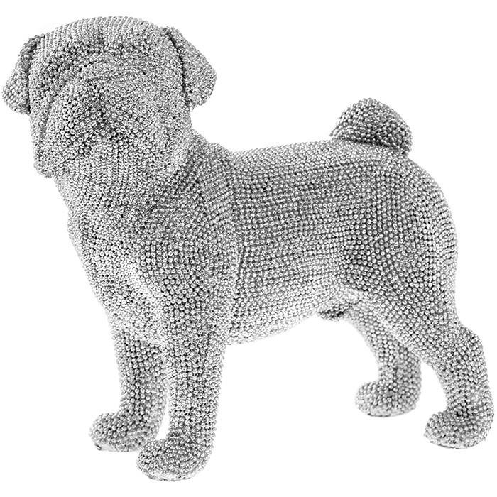 Silver Art Standing Pug