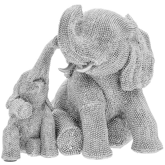 Silver Art - Elephant and Calf