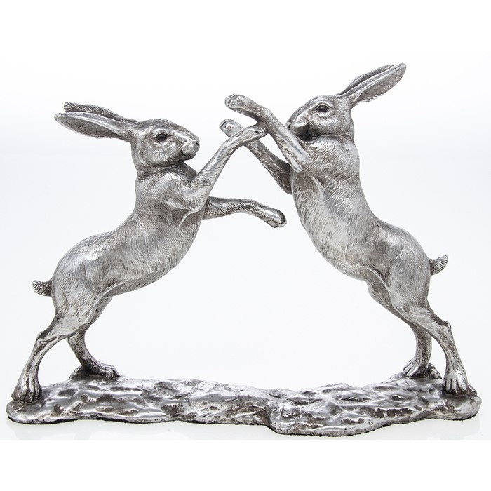 Reflections - Silver Hares Fighting