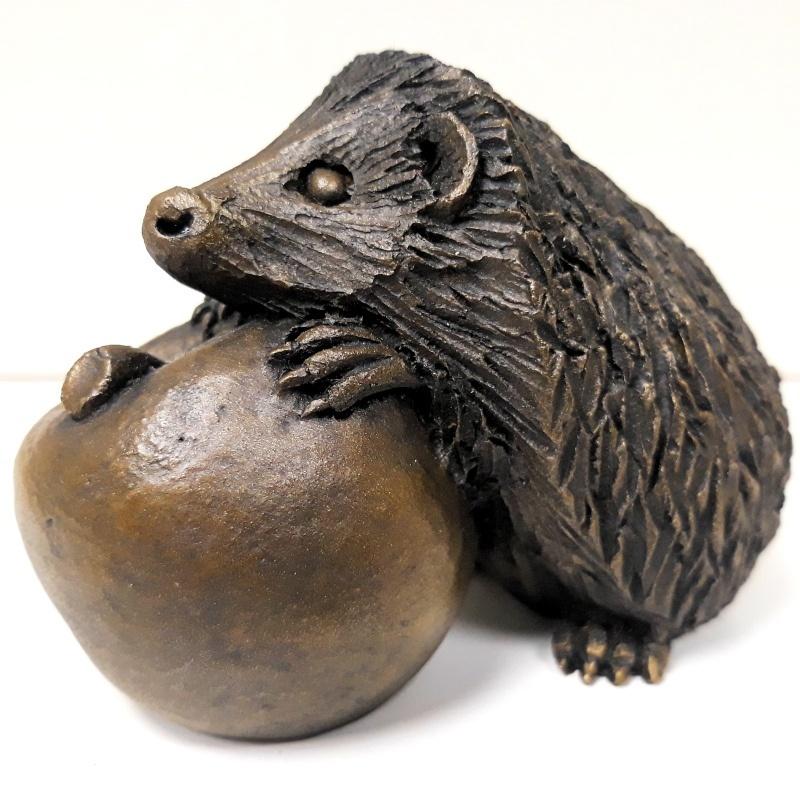 Hedgehog on Apple Thumb