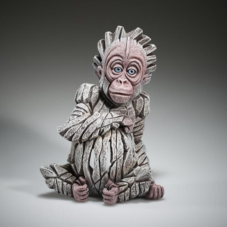 Edge Sculpture Baby Orangutan Albino