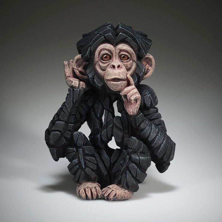 Edge Sculpture Baby Chimpanzee Hear no Evil