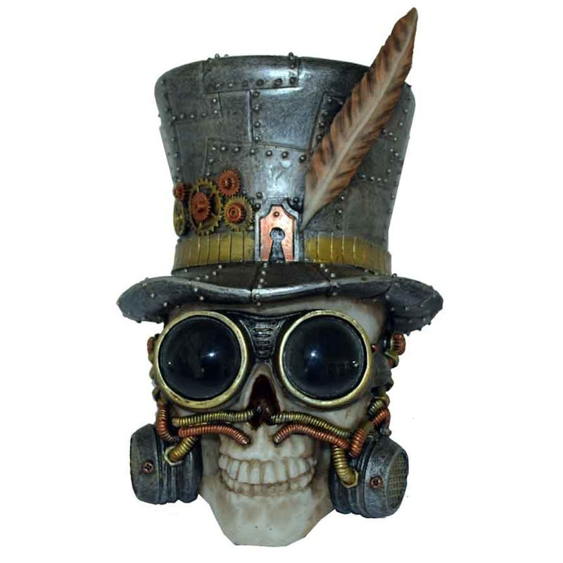Dapper Steampunk Skull