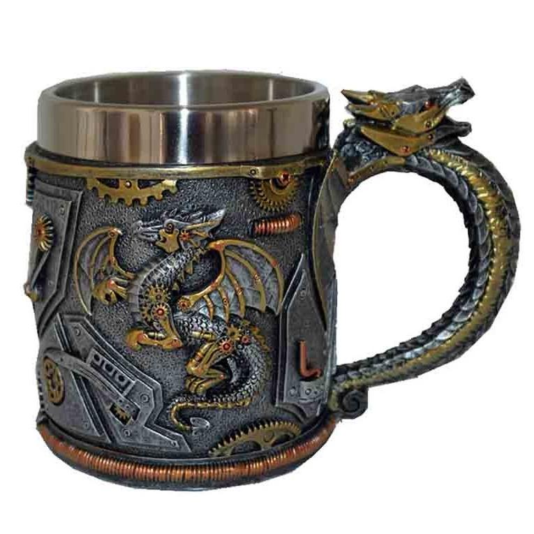 Medieval and Steampunk Dragon Tankard